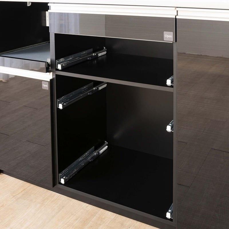 ダイニングボード プレーミエ (家電収納)QG−670R Bブラックグレイン:内装化粧仕上げ