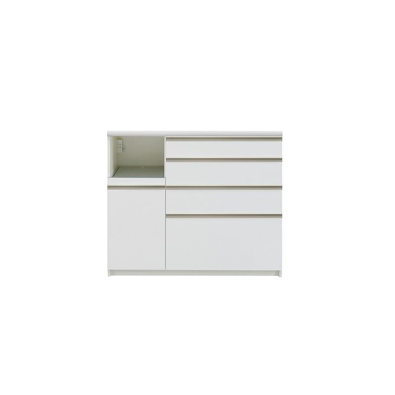 カウンター プレーミエ QG−1200R 下台 Wパールホワイト:シマホ×パモウナの共同開発商品