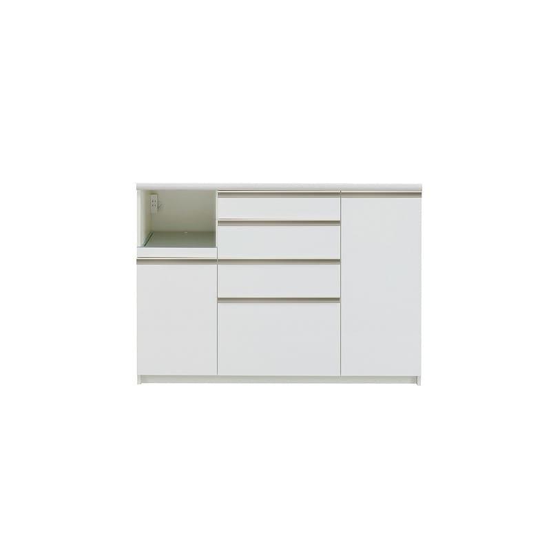 カウンター プレーミエ QG−1400R 下台 Wパールホワイト:食器棚業界で人気の高い「パモウナ」