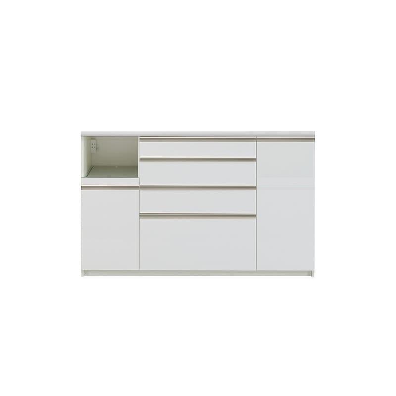 カウンター プレーミエ QG−1600R 下台 Wパールホワイト:食器棚業界で人気の高い「パモウナ」