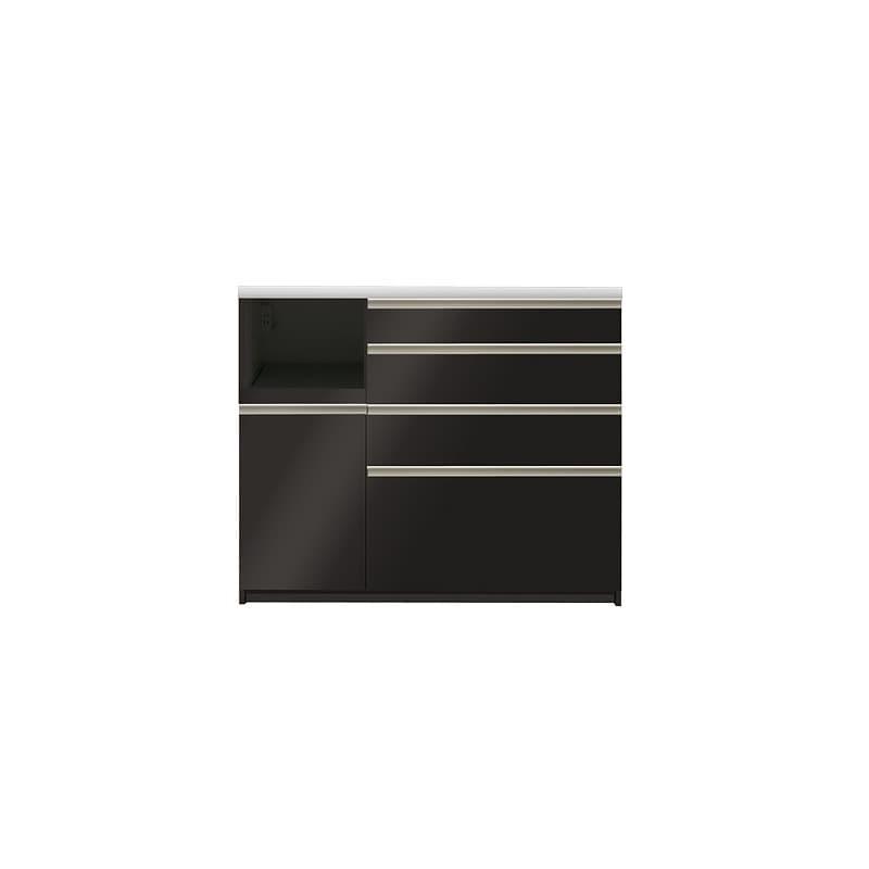 カウンター プレーミエ QG−1200R 下台 Bブラックグレイン:食器棚業界で人気の高い「パモウナ」