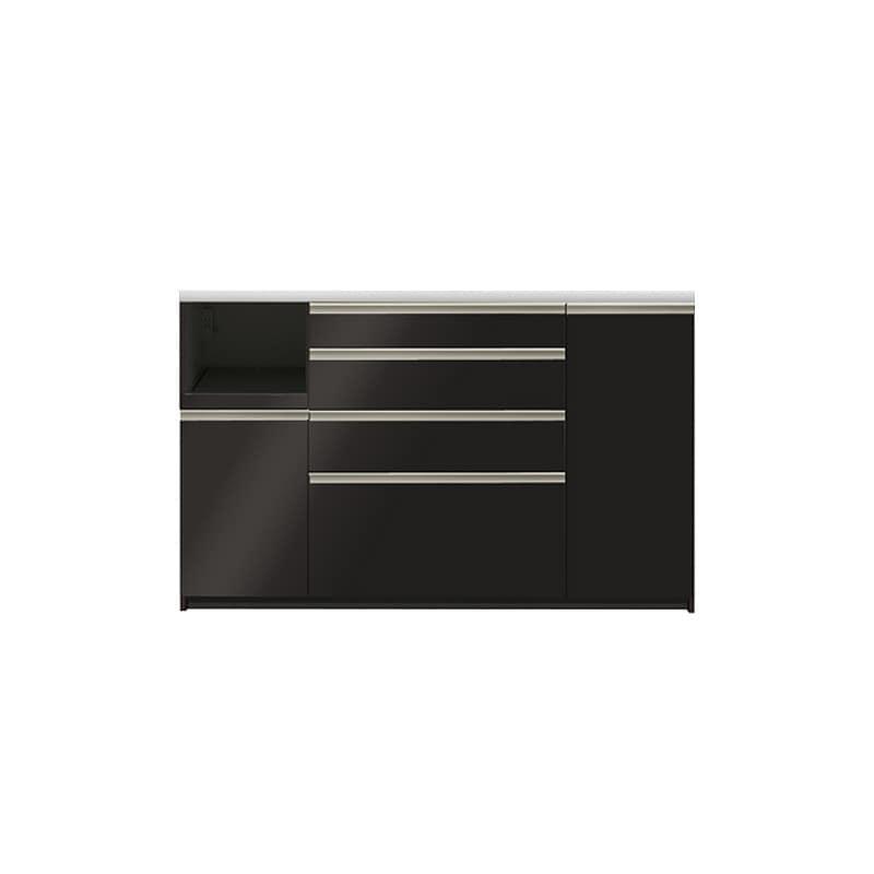 カウンター プレーミエ QG−1600R 下台 Bブラックグレイン:食器棚業界で人気の高い「パモウナ」