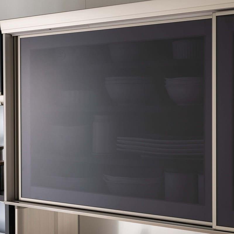 カウンター プレーミエ QG−400 共通下台 Bブラックグレイン:飛散防止ガラス