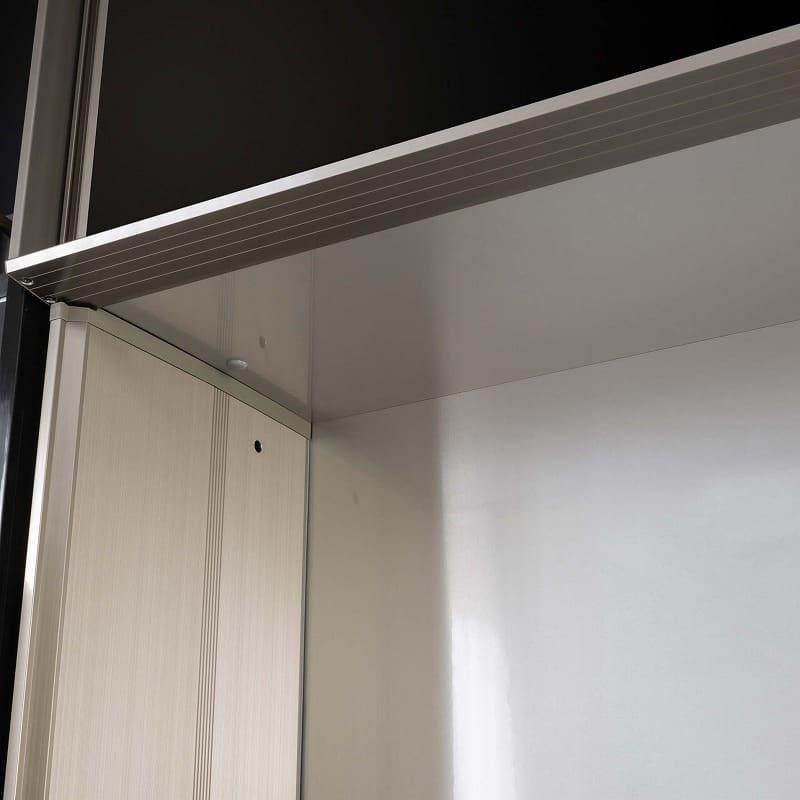 QGシリーズ用 上置き 幅40cm(左開き)QG−40UL Bブラックグレイン:アルミボード