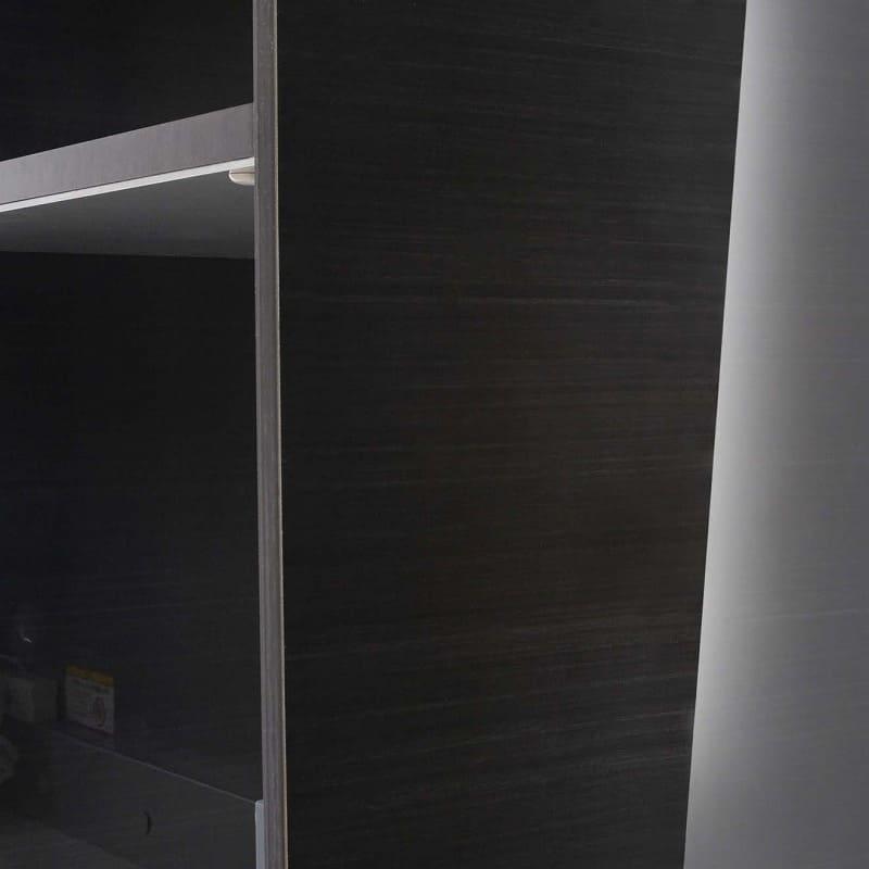 QGシリーズ用 上置き 幅40cm(左開き)QG−40UL Bブラックグレイン:美しいコーティングを側面にも