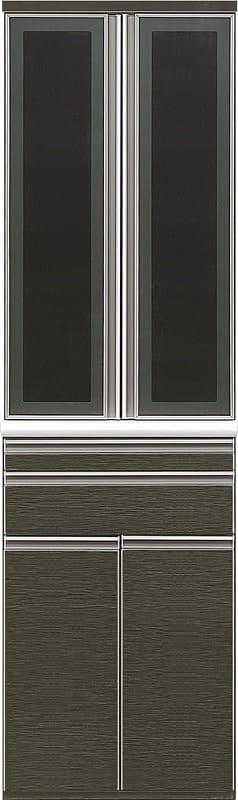 ダイニングボードエブリー 60 DB BK:木目調の鏡面仕上げがキッチンの印象をチェンジ