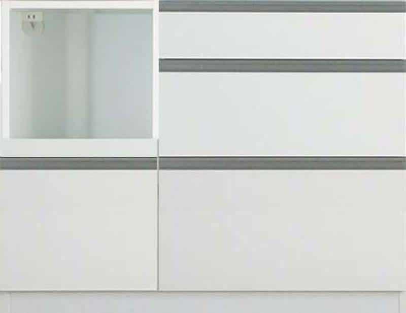 【下台】EXセレクト S(奥行45cm)100LKB ホワイト:《ユニッ式トダイニングボード「EX SELECT」》