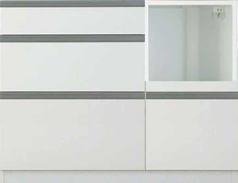 【下台】EXセレクト S(奥行45cm)100RKB ホワイト:《ユニッ式トダイニングボード「EX SELECT」》