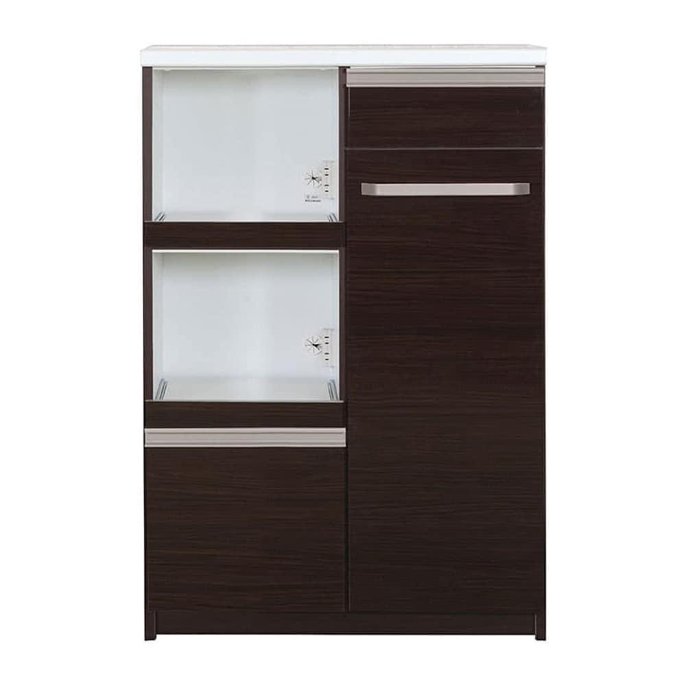 ミニ食器棚 カシュー80(D):この1台で家電・食器をひとつに収納♪
