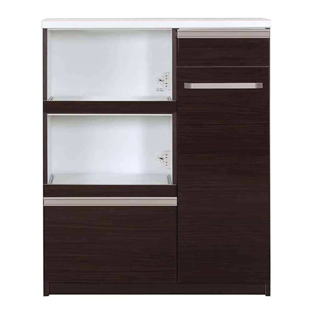 ミニ食器棚 カシュー100(D):この1台で家電・食器をひとつに収納♪