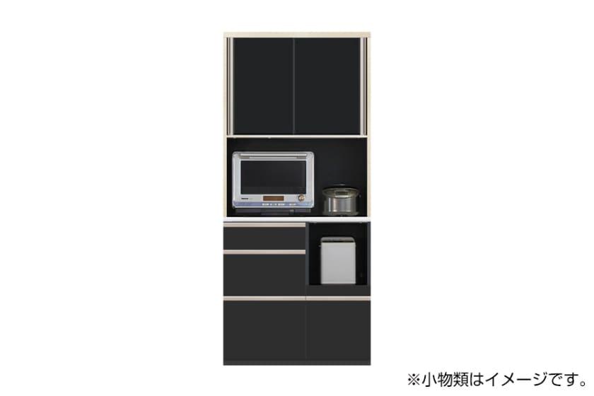 食器棚 サイゼスト 90 ※奥行49cm(ブラック)