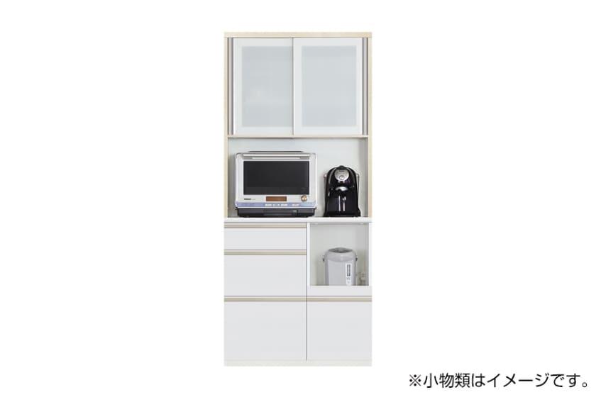 食器棚 サイゼスト 90 (ホワイト):欲しいサイズがきっと見つかる