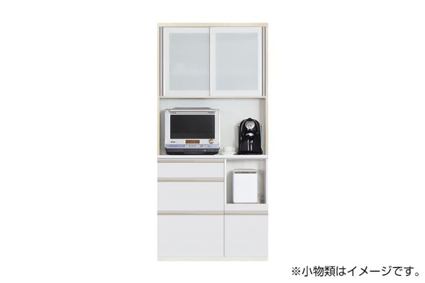 食器棚 サイゼスト 95 (ホワイト):欲しいサイズがきっと見つかる