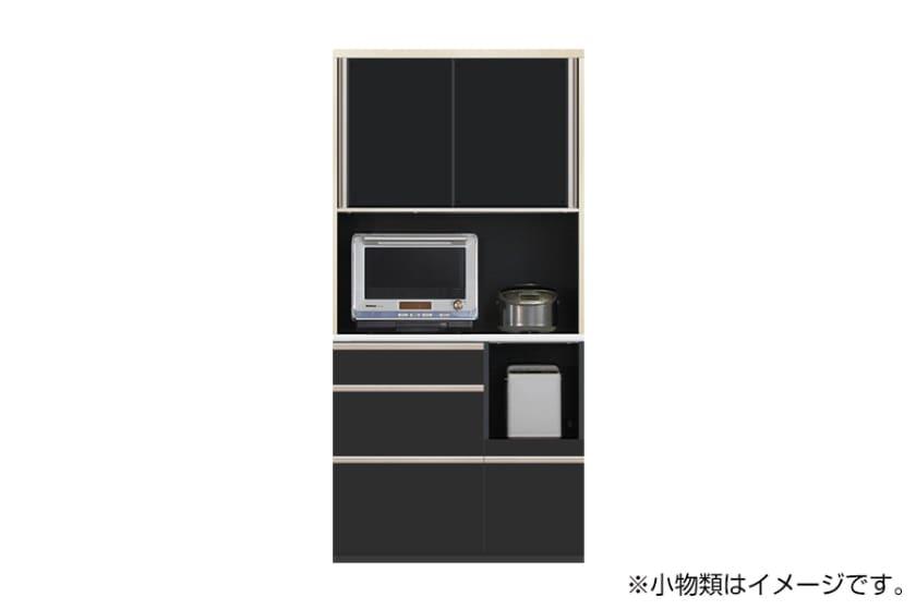 食器棚 サイゼスト 100 (ブラック):欲しいサイズがきっと見つかる