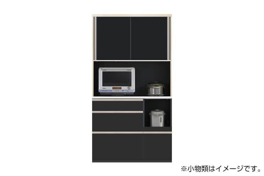 食器棚 サイゼスト 105 (ブラック):欲しいサイズがきっと見つかる