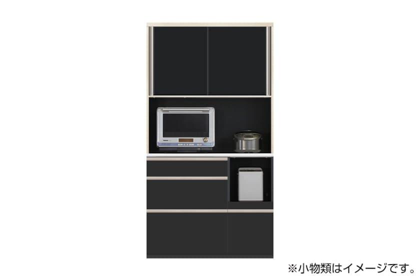 食器棚 サイゼスト 110 (ブラック)