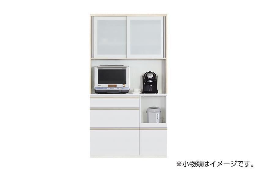 食器棚 サイゼスト 110 (ホワイト):欲しいサイズがきっと見つかる