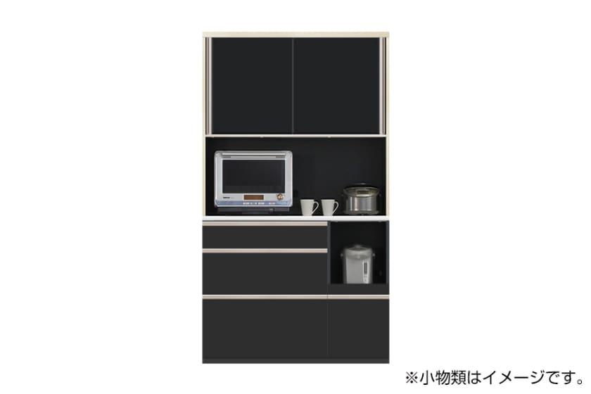 食器棚 サイゼスト 115 (ブラック):欲しいサイズがきっと見つかる