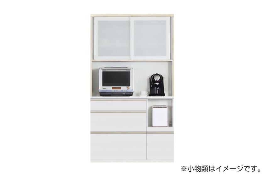 食器棚 サイゼスト 115 (ホワイト):欲しいサイズがきっと見つかる
