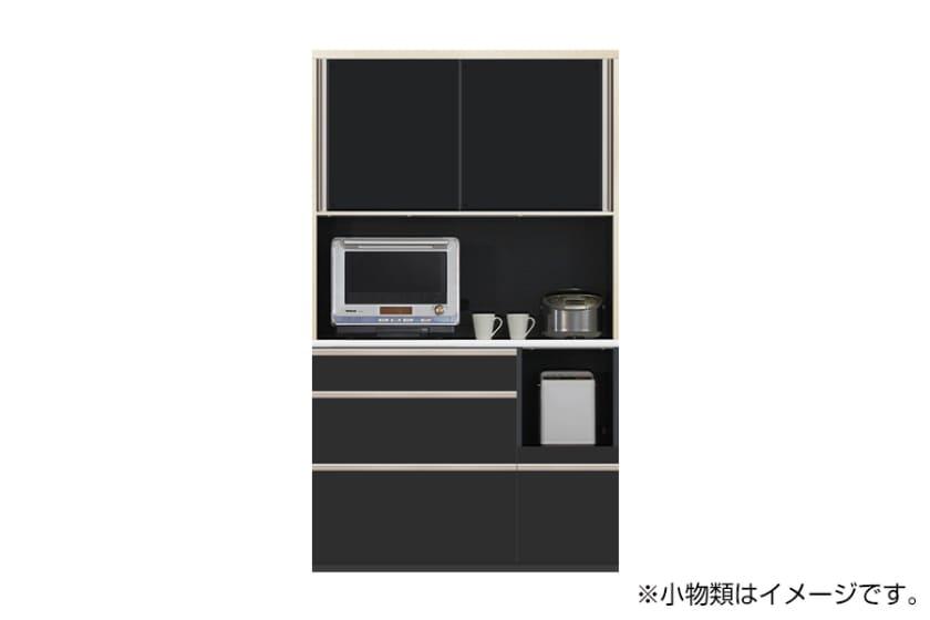 食器棚 サイゼスト 120 (ブラック):欲しいサイズがきっと見つかる