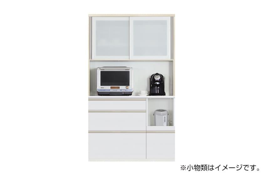 食器棚 サイゼスト 120 (ホワイト):欲しいサイズがきっと見つかる