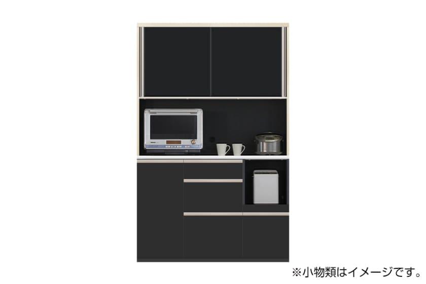 食器棚 サイゼスト 125 (ブラック):欲しいサイズがきっと見つかる ※画像は幅130cmです