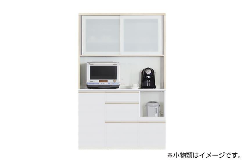 食器棚 サイゼスト 125 (ホワイト):欲しいサイズがきっと見つかる ※画像は幅130cmです