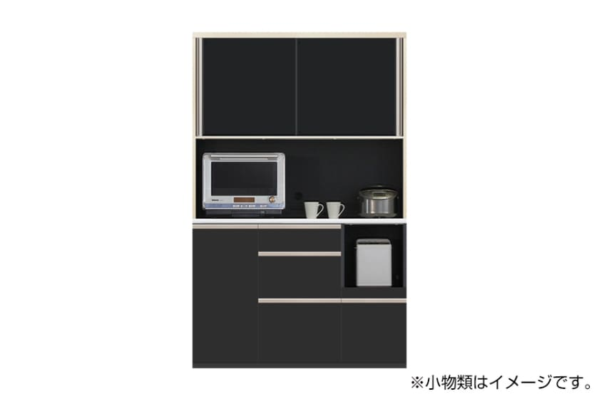 食器棚 サイゼスト 130 (ブラック):欲しいサイズがきっと見つかる