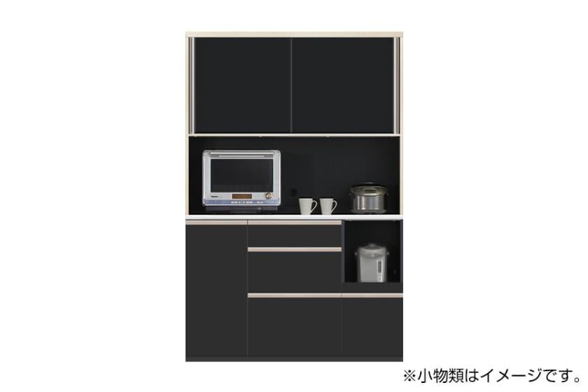 食器棚 サイゼスト 135 (ブラック):欲しいサイズがきっと見つかる