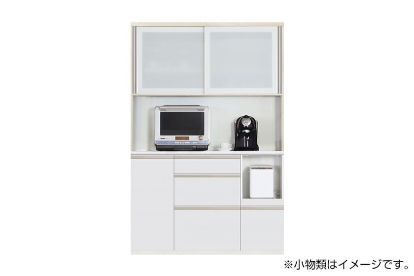 食器棚 サイゼスト 135 (ホワイト):欲しいサイズがきっと見つかる