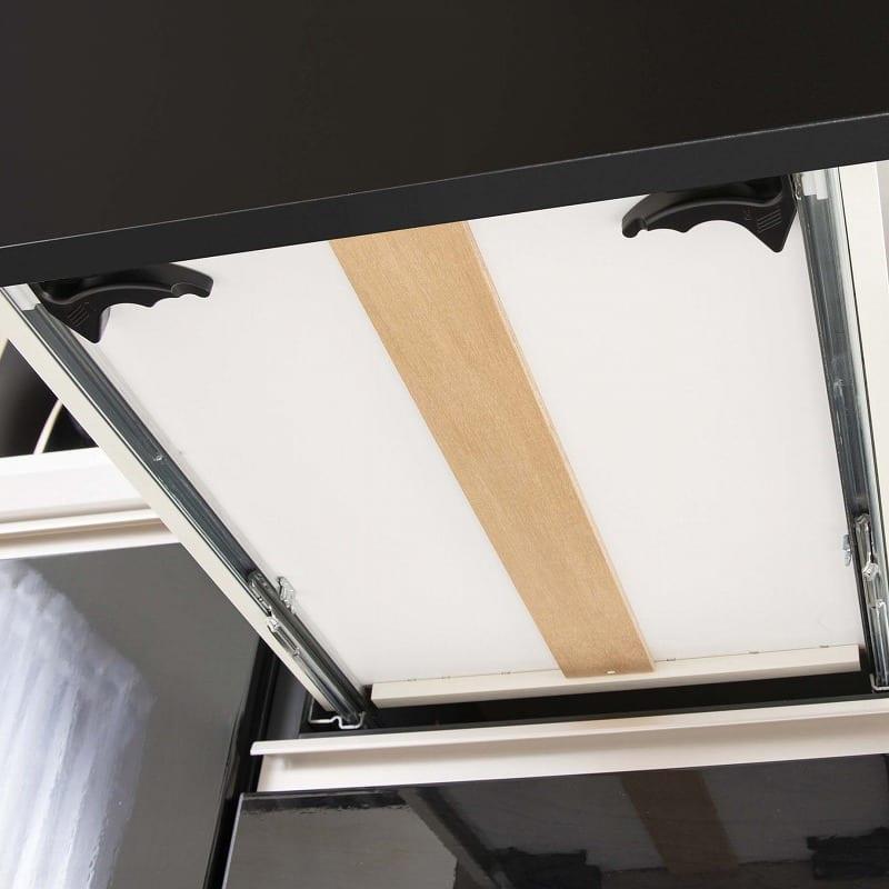 食器棚 サイゼスト 150 (ブラック):信頼の国産家具
