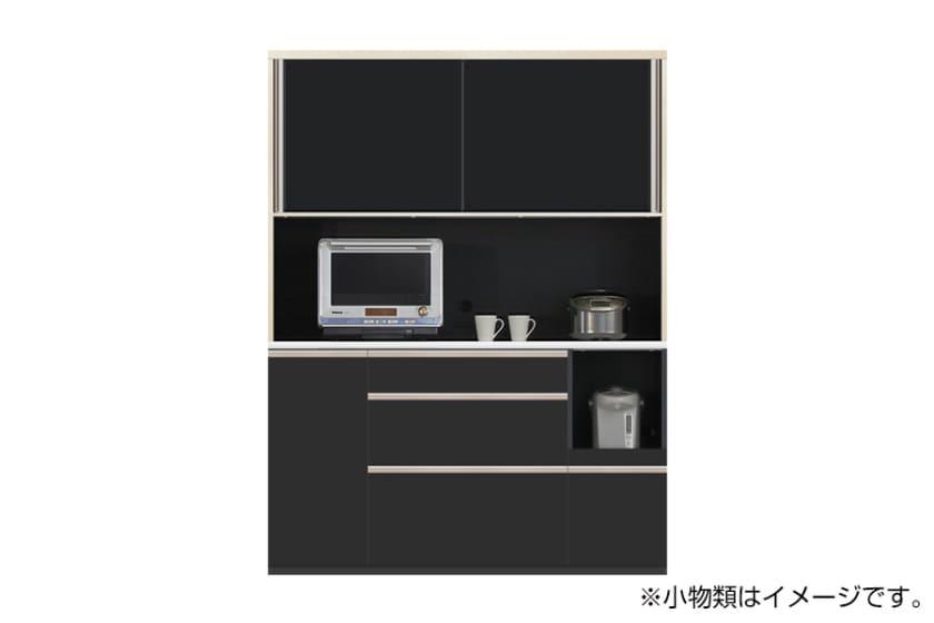 食器棚 サイゼスト 155 (ブラック):欲しいサイズがきっと見つかる