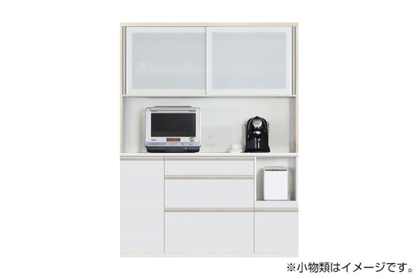 食器棚 サイゼスト 155 (ホワイト):欲しいサイズがきっと見つかる