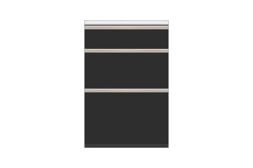 カウンター サイゼスト 60引出 (ブラック):欲しいサイズがきっと見つかる