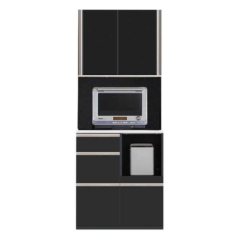 食器棚 サイゼスト 80 (ブラック):食器棚※小物はイメージです。
