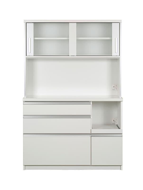 キッチンボード ティーノ120ロータイプ (ホワイト):一人暮らしの方にもおススメのサイズ感