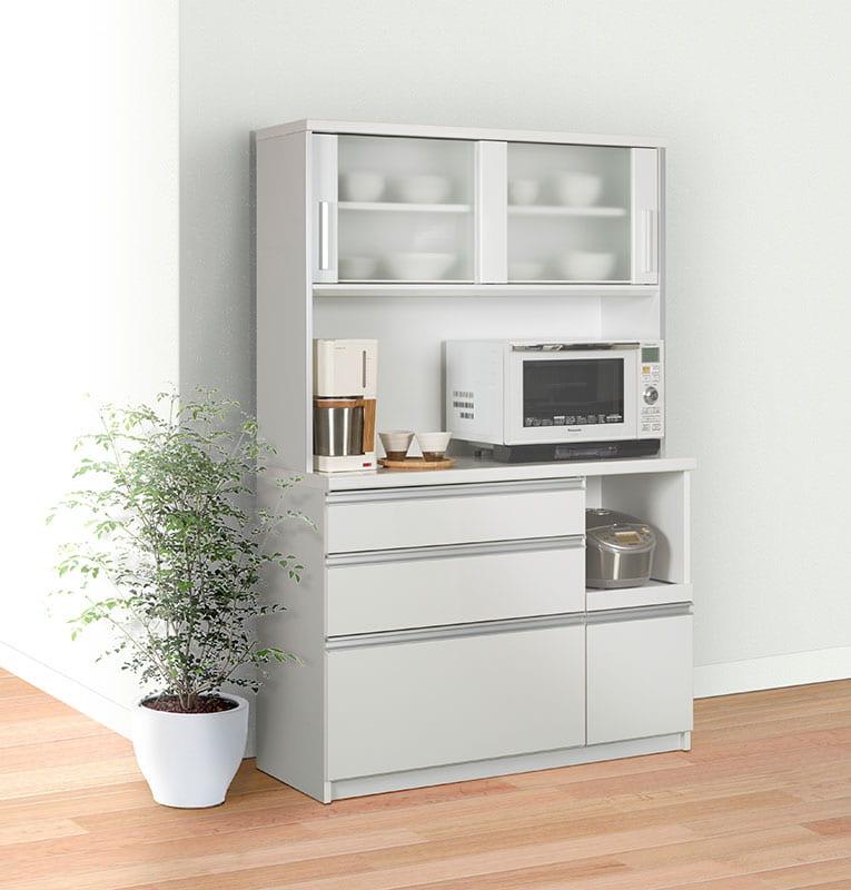 キッチンボード ティーノ120ロータイプ (ホワイト)