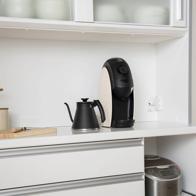 キッチンボード ティーノ140ロータイプ (ホワイト):オープンスペース
