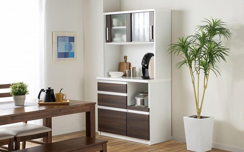 キッチンボード ティーノ100ロータイプ (ダーク):一人暮らしの方にもおススメのサイズ感