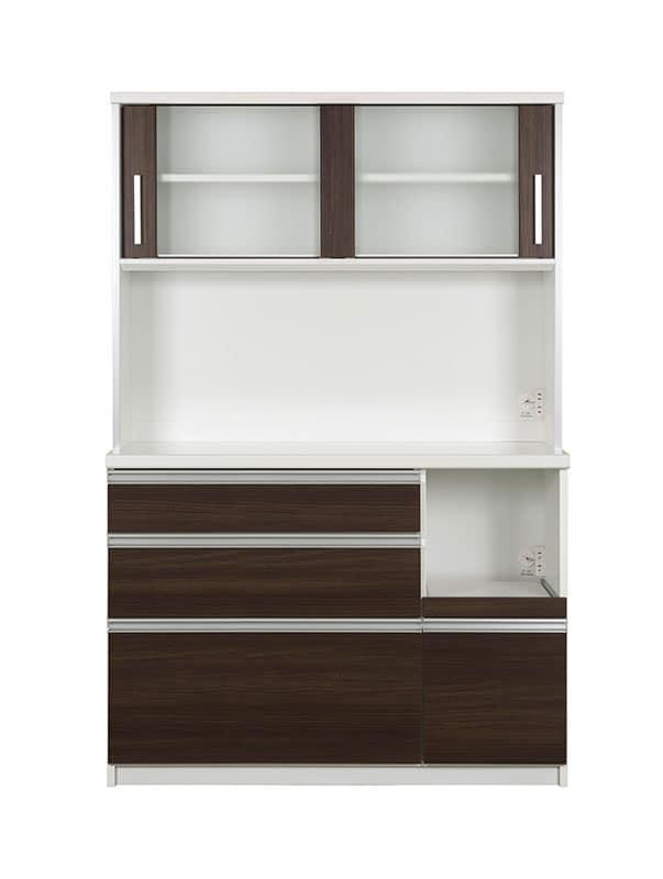 キッチンボード ティーノ120ロータイプ (ダーク):一人暮らしの方にもおススメのサイズ感