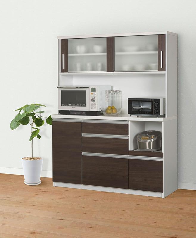 キッチンボード ティーノ120ロータイプ (ダーク)