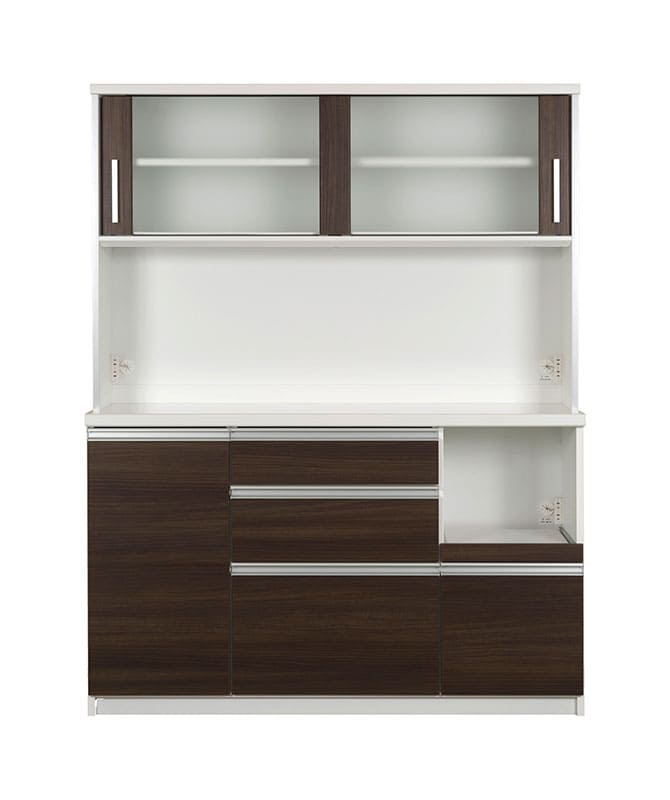キッチンボード ティーノ140ロータイプ (ダーク):一人暮らしの方にもおススメのサイズ感