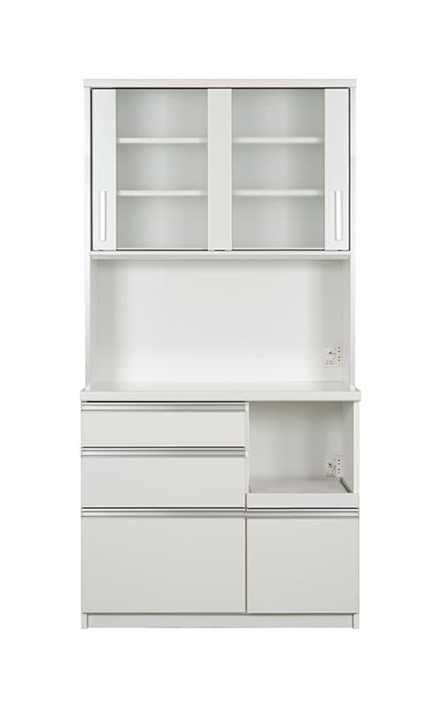 キッチンボード ティーノ100ハイタイプ (ホワイト):一人暮らしの方にもおススメのサイズ感