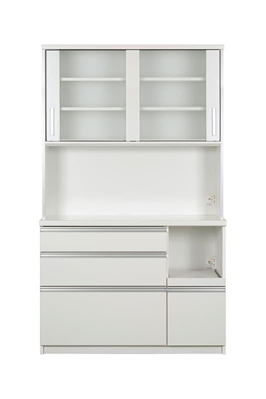 キッチンボード ティーノ120ハイタイプ (ホワイト):一人暮らしの方にもおススメのサイズ感