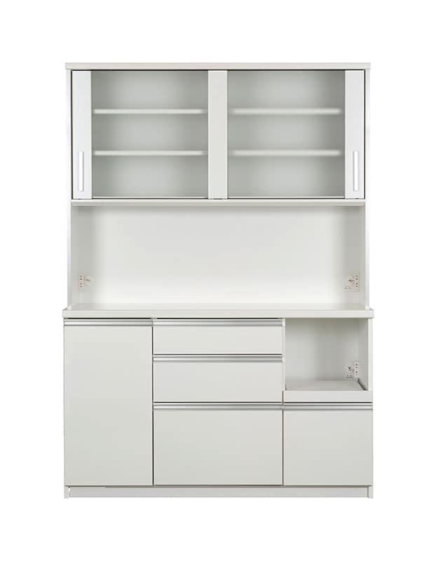 キッチンボード ティーノ140ハイタイプ (ホワイト):一人暮らしの方にもおススメのサイズ感