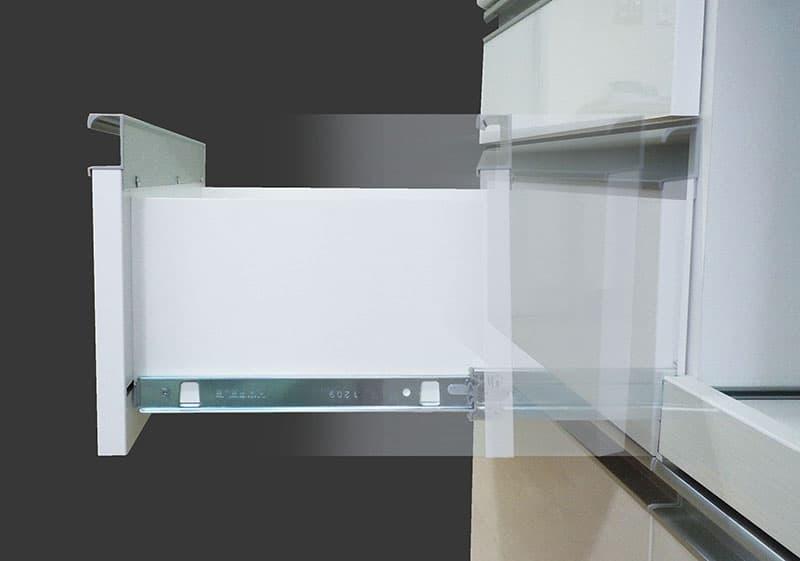 キッチンボード ティーノ140ハイタイプ (ホワイト)