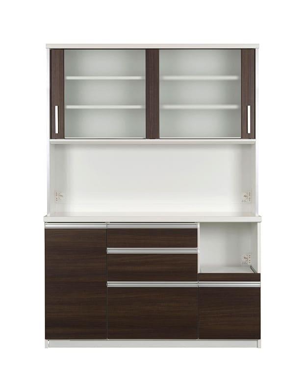 キッチンボード ティーノ140ハイタイプ (ダーク):一人暮らしの方にもおススメのサイズ感
