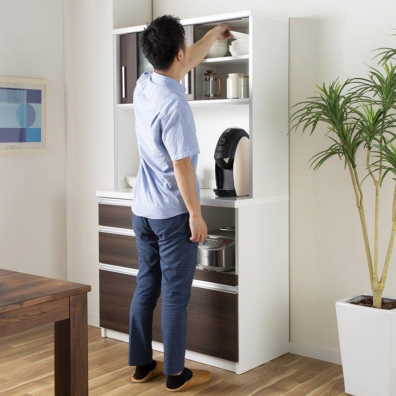 キッチンボード ティーノ140ハイタイプ (ダーク):ロータイプとハイタイプ