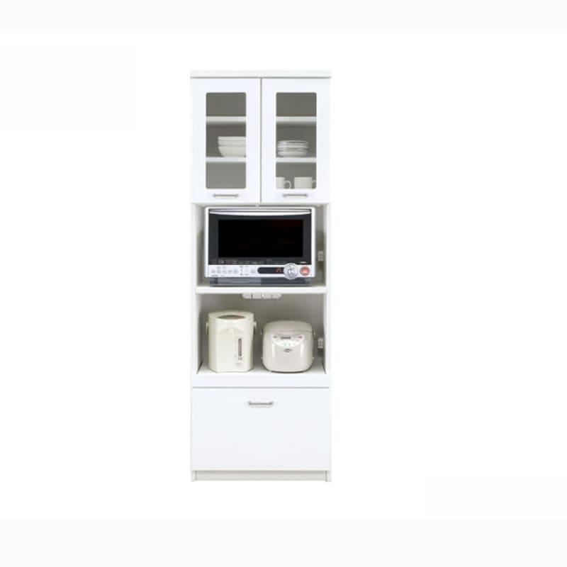 食器棚 ペレットβ 60OP2段(ホワイト):収納に合わせてお好みのサイズをチョイス 小物類はイメージです。