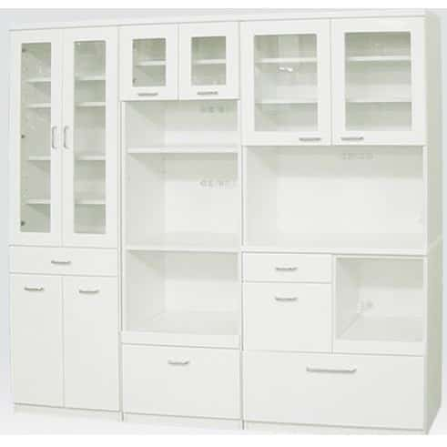 食器棚 ペレットβ 60OP3段(ホワイト):安心の国産品質